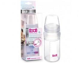 Бутылочка силиконовая с ложечкой 230 мл - 10/812, LOVI