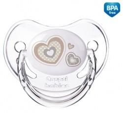 Пустышка силиконовая анатомическая 6-18 месяцев Newborn baby - 22/566_bei