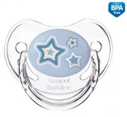 Пустышка силиконовая анатомическая 6-18 месяцев Newborn baby - 22/566_blu