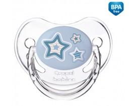 Пустышка анатомическая силиконовая Newborn baby, 0-6м - 22/565_blu