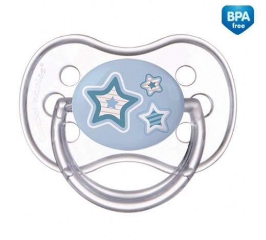 Пустышка силиконовая симметрическая Newborn baby 0-6 месяцев - 22/580_blu