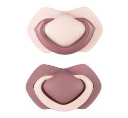 Пустышка силиконовая симметричная 0-6 м, 2 шт. Pure Color - розовая, 22/644_pin