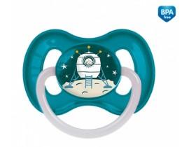 Пустышка латексная круглая 0-6 месяцев Космос - 23/221_blu, Canpol Babies