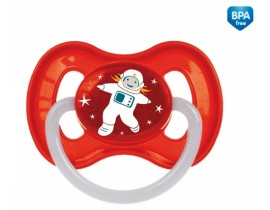 Пустышка латексная круглая 0-6 месяцев Космос - 23/221_red, Canpol Babies