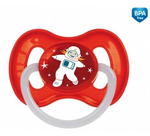 Пустышка латексная круглая 6-18 месяцев Космос- 23/222_red, Canpol Babies