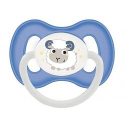 Пустышка силиконовая симметричная 0-6 м Bunny & Company - 23/268_blu, синяя