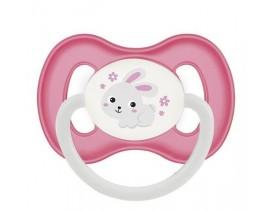 Пустышка силиконовая симметричная 6-18 м Bunny & Company - 23/269_pin, розовая