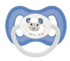 Пустышка силиконовая симметричная 18+ м Bunny & Company - 23/270_blu, синяя
