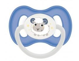 Пустышка латексная круглая 0-6 м - 23/277_blu, Bunny&Company, синяя