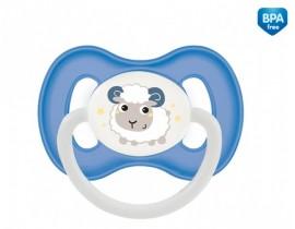 Пустушка латексна кругла 6-18 м - 23/278_blu, Bunny Company, синя