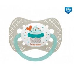 Пустышка силиконовая симметричная 0-6 м Cupcake - 23/282_grey
