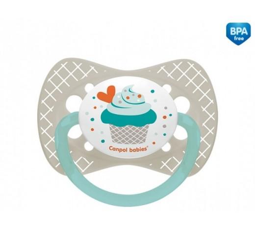 Пустышка силиконовая симметричная 6-18 м Cupcake - 23/283_grey
