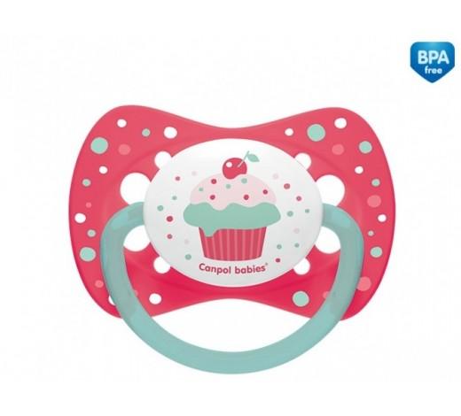Пустышка силиконовая симметричная 6-18 м Cupcake - 23/283_pin