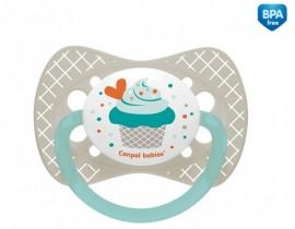 Пустышка силиконовая симметричная 18+ м Cupcake - 23/284_grey