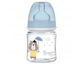 Антиколиковая бутылочка с широким горлышком 120 мл, PP Easystart Bonjour Paris - 35/231_blu
