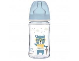 Антиколиковая бутылочка с широким горлышком 240 мл, PP Easystart Bonjour Paris - 35/232_blu