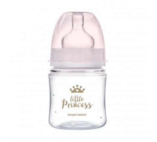 Антиколиковая бутылочка с широким отверстием 120 мл PP Easystart Royal baby, розовая - 35/233_pin