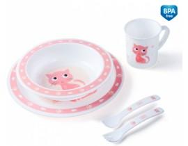 Набор посуды Cute animals,котик - 4/401_pin, Canpol Babies