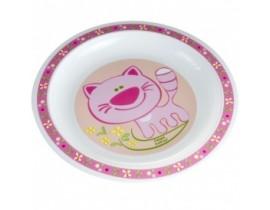 Тарелка пластиковая мелкая Smile - 4/411, Canpol Babies