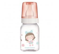Бутылочка для кормления стеклянная с рисунком 120 мл - 42/202