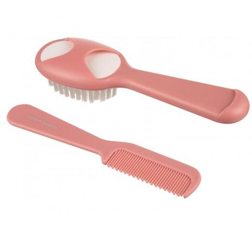 Щетка для волос с гребешком, розовая - 56/160_pin