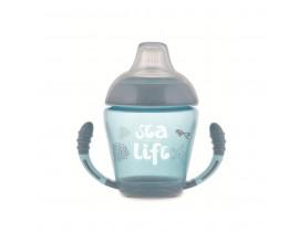 Кружка непроливайка с силиконовым носиком Sea life - 56/501_grey, 230 мл