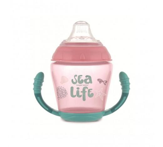 Кружка непроливайка с силиконовым носиком Sea life - 56/501_pin,  230 мл