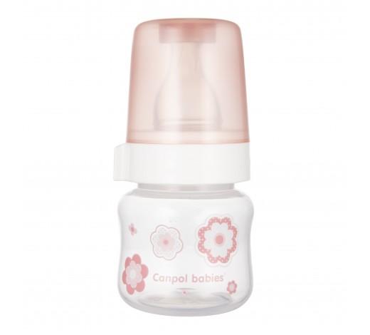 Бутылочка антиколиковая 60 мл PP Newborn baby, розовая - 57/305_pin