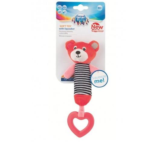 Плюшевая игрушка с пищалкой и зубогрызкой Bears - 68/055_cor