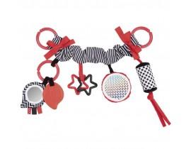Плюшевая погремушка на коляску Sensory Toys - 68/071_red