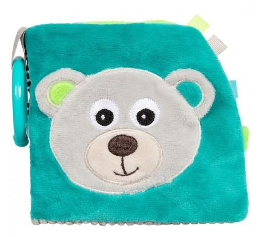 Развиваюзая игрушка-книжечка мягкая Bears - 68/075_grey