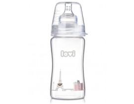 Бутылочка стеклянная LOVI Diamond glass250 мл - 74/202, Retro girl