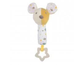 Игрушка плюшевая с пищалкой и прорезывателем Mouse - 77/205