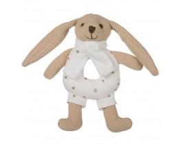 Игрушка-погремушка мягкая Кролик - 80/201_bei