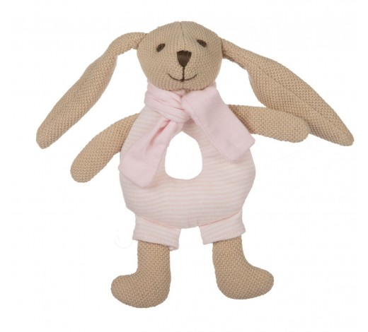 Игрушка-погремушка мягкая Кролик - 80/201_pin