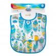 Слюнявчик пластиковый мягкий с карманом Wild Nature, бирюзовый-9/234_tur