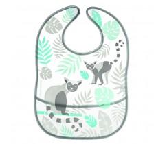 Слюнявчик с карманом пластиковый Jungle - 9/238_grey